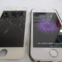 iPhone5s,フロントガラス割れ,修理