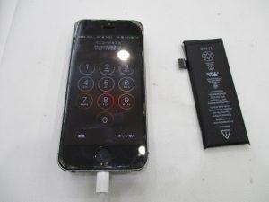 iPhone5のバッテリー交換