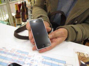 iPhone5cフロントガラス割れ修理